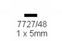 4-kant Profil rechteckig 1.0x5.0mm Länge 1000mm