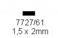 4-kant Profil rechteckig 1.5x2.0mm Länge 1000mm