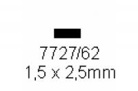4-kant Profil rechteckig 1.5x2.5mm Länge 1000mm