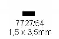 4-kant Profil rechteckig 1.5x3.5mm Länge 1000mm