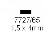 4-kant Profil rechteckig 1.5x4.0mm Länge 1000mm