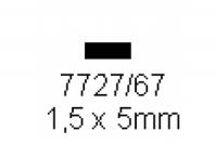 4-kant Profil rechteckig 1.5x5.0mm Länge 1000mm