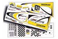 Multiplex AcroMaster Pro Dekorbogen gelb/silber