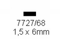 4-kant Profil rechteckig 1.5x6.0mm Länge 1000mm