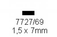 4-kant Profil rechteckig 1.5x7.0mm Länge 1000mm