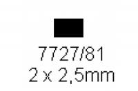 4-kant Profil rechteckig 2.0x2.5mm Länge 1000mm