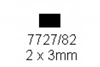 4-kant Profil rechteckig 2.0x3.0mm Länge 1000mm