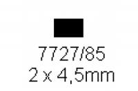 4-kant Profil rechteckig 2.0x4.5mm Länge 1000mm