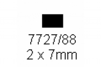 4-kant Profil rechteckig 2.0x7.0mm Länge 1000mm