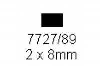 4-kant Profil rechteckig 2.0x8.0mm Länge 1000mm