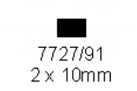 4-kant Profil rechteckig 2.0x10.0mm Länge 1000mm