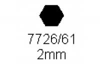 6-kant Profil SW 2.0mm Länge 1000mm