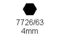 6-kant Profil SW 4.0mm Länge 1000mm
