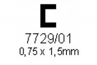 C-Profil 0.75x1.5mm Länge 1000mm