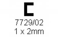 C-Profil 1.0x2.0mm Länge 1000mm