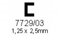 C-Profil 1.25x2.5mm Länge 1000mm