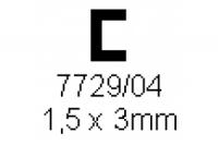 C-Profil 1.50x3.0mm Länge 1000mm