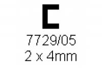 C-Profil 2.0x4.0mm Länge 1000mm