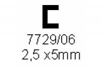 C-Profil 2.5x5.0mm Länge 1000mm