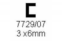 C-Profil 3.0x6.0mm Länge 1000mm