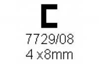 C-Profil 4.0x8.0mm Länge 1000mm