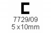 C-Profil 5.0x10.0mm Länge 1000mm