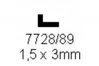 L-Profil 1.5x3.0mm Länge 1000mm
