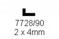 L-Profil 2.0x4.0mm Länge 1000mm