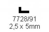 L-Profil 2.5x5.0mm Länge 1000mm