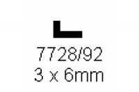 L-Profil 3.0x6.0mm Länge 1000mm
