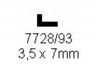 L-Profil 3.5x7.0mm Länge 1000mm