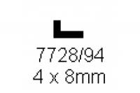 L-Profil 4.0x8.0mm Länge 1000mm