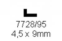 L-Profil 4.5x9.0mm Länge 1000mm