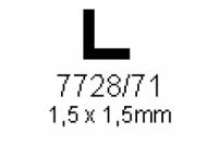 L-Profil 1.5x1.5mm Länge 1000mm