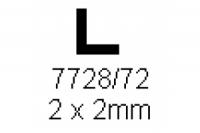 L-Profil 2.0x2.0mm Länge 1000mm