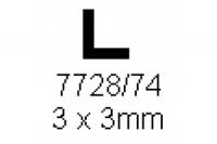 L-Profil 3.0x3.0mm Länge 1000mm