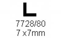 L-Profil 7.0x7.0mm Länge 1000mm