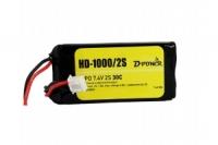 D-Power HD-1000 2S Lipo (7,4V) 30C - mit BEC Stecker