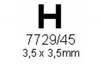 H-Profil 3.5x3.5mm Länge 1000mm