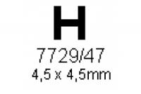 H-Profil 4.5x4.5mm Länge 1000mm