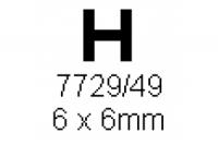 H-Profil 6.0x6.0mm Länge 1000mm