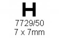 H-Profil 7.0x7.0mm Länge 1000mm