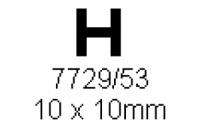 H-Profil 10.0x10.0mm Länge 1000mm