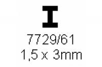 H-Profil 1.5x3.0mm Länge 1000mm