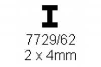 H-Profil 2.0x4.0mm Länge 1000mm