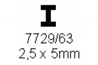H-Profil 2.5x5.0mm Länge 1000mm