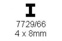 H-Profil 4.0x8.0mm Länge 1000mm