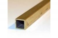 Messing Vierkantrohr 8,0 mm x 8,0 mm x 1000 mm