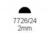 Halbrundprofil 2.0mm Länge 1000mm