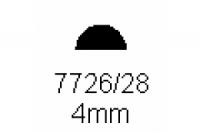 Halbrundprofil 4.0mm Länge 1000mm